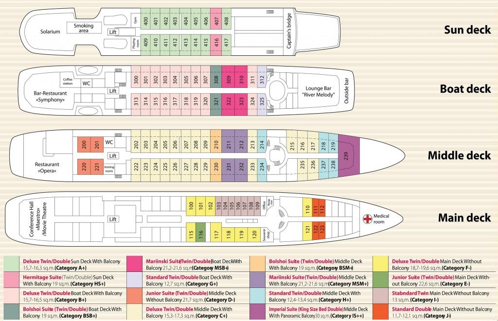 M.Rostropovich Deck Plan