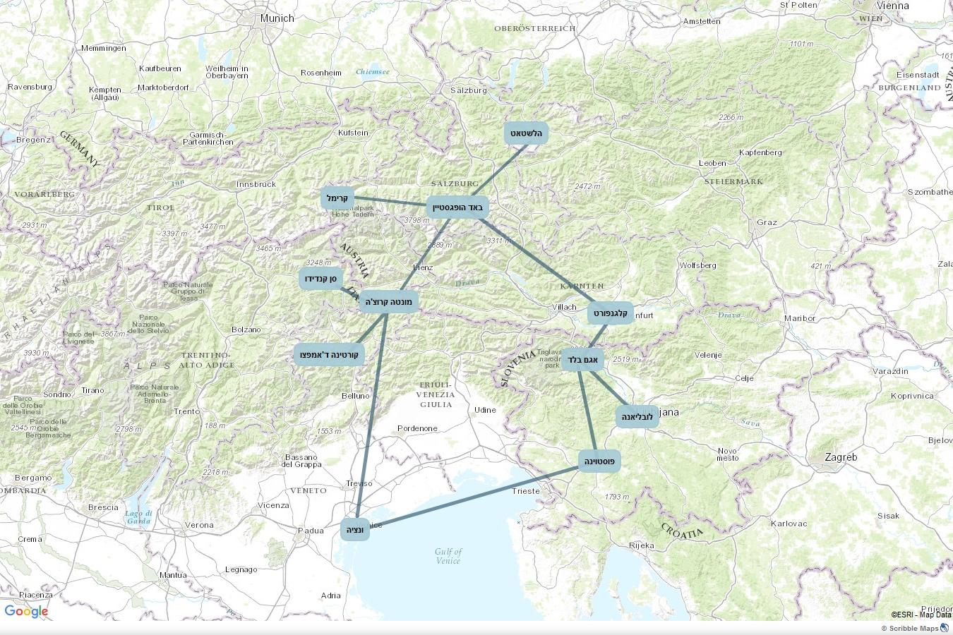 מגניב חבל זלצבורג, הרי הדולומיטים ובלד | בשביל הזהב AS-16
